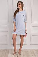 Стильное голубое платье хорошего качества, свободного кроя