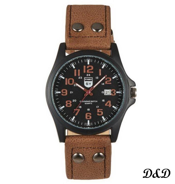 Часы мужские спортивные SYNOKE коричневые