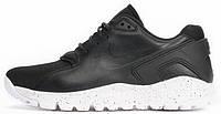 Мужские модные кроссовки 2017 Nike Koth Ultra Low Black Leather Найк кожаные черные