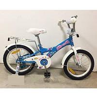 """Детский двухколесный велосипед Profi Original girl Голубой 20"""" (G2064) со звонком"""