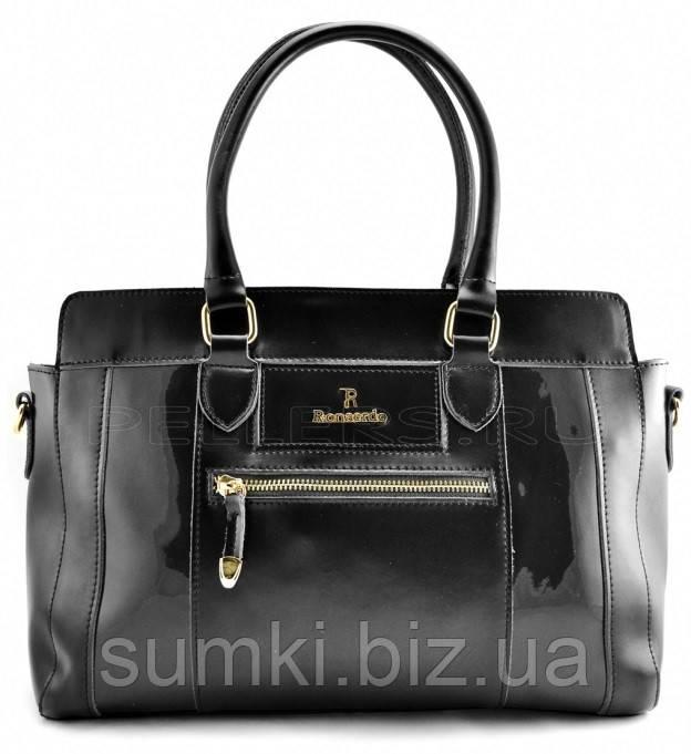 Черная кожаная сумка 2017