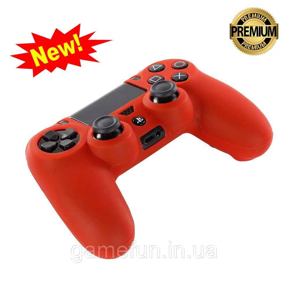 Силиконовый чехол для джойстика PS4 ( Red)