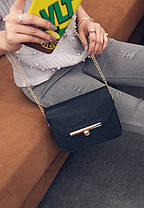 Ділова жіноча сумка скриня на ланцюжку, фото 3