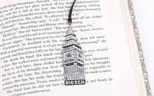 Книжная закладка серебристая Лондон Биг Бен