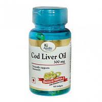 Масло печени трески - 300 mg / Cod Liver Oil, Apollo / 100 кап.
