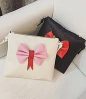 Милая сумка клатч с бантиком