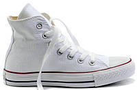 Женские высокие кеды Converse Chuck Taylor All Star White Конверс белые