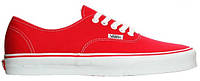 Женские кеды Vans Classics Authentic Red/White Ванс красные