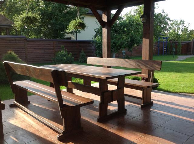 Деревянная мебель для беседок от производителя фото 1