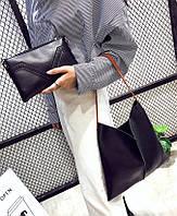 Отличная сумка с вырезом и шикарным клатчем в комплекте