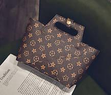 Трендовая оригинальна сумка+клатч, 2в1 в клетку и ромбики, фото 3