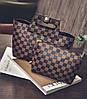 Трендовая оригинальна сумка+клатч, 2в1 в клетку и ромбики, фото 2