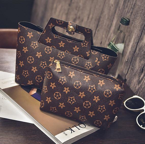 Трендовая оригинальна сумка+клатч, 2в1 в клетку и ромбики