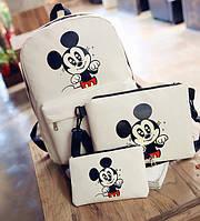 Мультяшный набор 3в1 Микки Маус, рюкзак, сумка, клатч