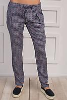 Молодежные летние брюки свободного кроя, с красивым узором
