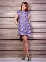 Милое платье-мини с цветочным принтом