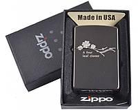 Зажигалка фирменная бензиновая Zippo в подарочной упаковке №4729-1 Запальничка