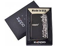 Зажигалка бензиновая фирменная Zippo в подарочной упаковке №4729-8. Подарочная очень качественная. США.