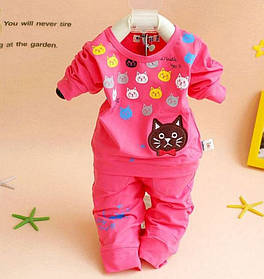Малиновый детский костюм, кофта и штаны