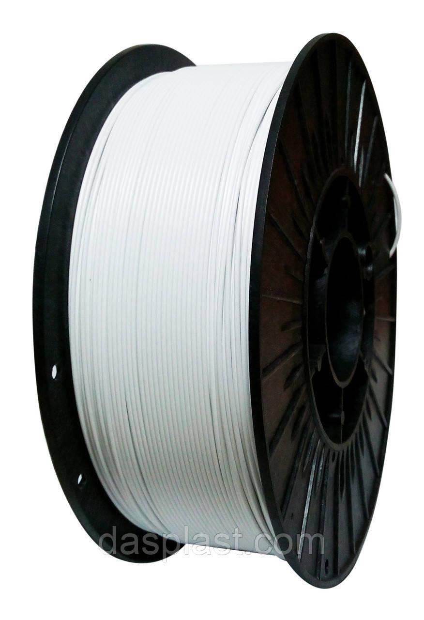 ABS АБС нить 1.75 мм пластик для 3d печати, белый, 1 кг - DASplast в Харькове