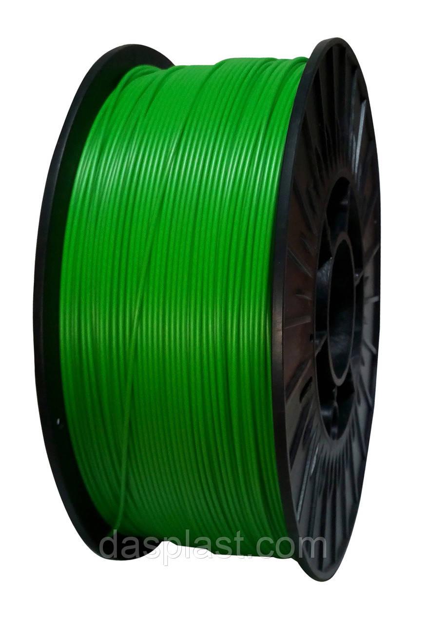 АБС нить 1.75 мм пластик для 3d печати, зеленый, 1 кг