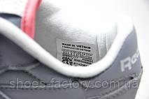 Кроссовки женские Reebok Classic Leather, Серый\Белый, фото 3