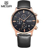 Мужские наручные часы MEGIR DE LUXE. Гарантия 3 месяца.