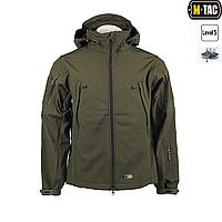 Куртка-ветровка непромокаемая M-Tac, мембрана Soft Shell, олива