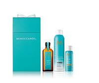 """Подарочный набор """"Очищение и Укладка"""" для темных волос Moroccanoil Clean and Go kit"""