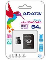 Карта памяти ADATA 64Gb microSD UHS-I