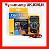 Мультиметр UK-830LN малогабаритный мультиметр с подсветкой дисплея и защитным кожухом!Опт
