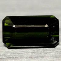 1.07  кт Природный темно-зеленый турмалин Нигерии 4,5 X 8,2 X 3,0 мм