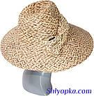 Шляпа соломенная с украшением в виде банта, фото 4