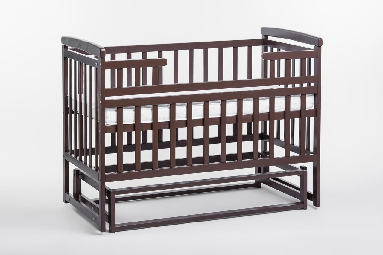 Кроватка в детскую комнату из натурального дерева ТМ Дитячий сон, цвет - венге