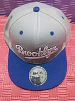 Бейсболка Brooklyn (серая с синим)