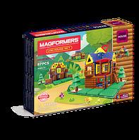 Магнитный конструктор Мой домик в лесу, 87 элементов, серия Строительство домов, Magformers