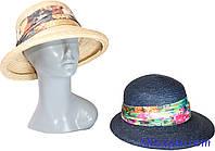 Шляпа из натуральной соломы с яркой лентой