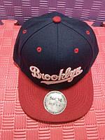 Бейсболка Brooklyn (синяя с красным)