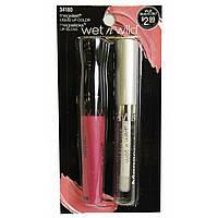 Набор  для губ стойкая помада и блеск Wet n Wild Megalast Liquid Lip Color & Megaslicks Lipgloss