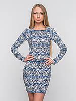 Трикотажное женское платье без застежек 90138