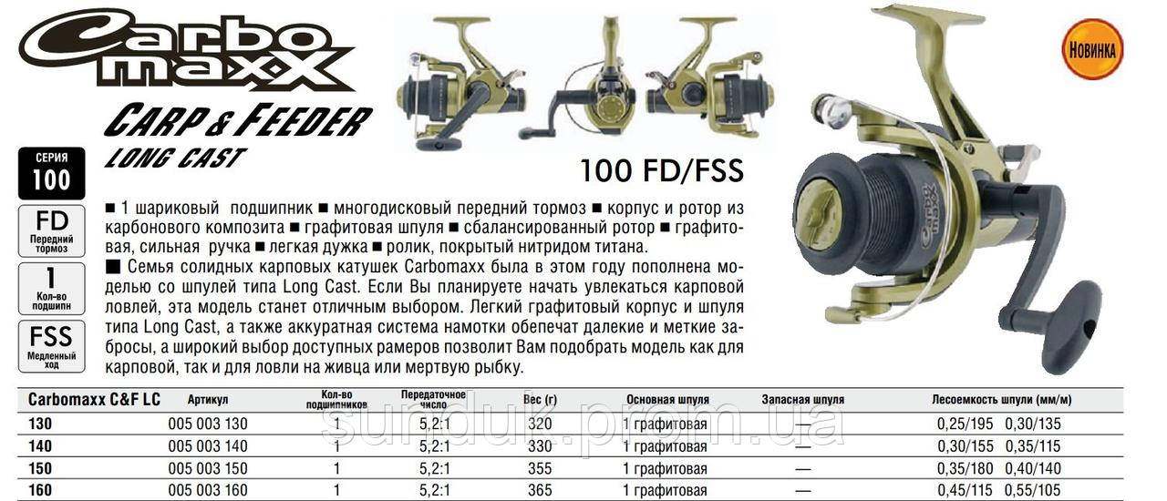 Катушка Carbomaxx C&F Long Cast 150FD