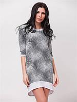 Летнее женское платье голограмма с удлиненной спинкой  90162