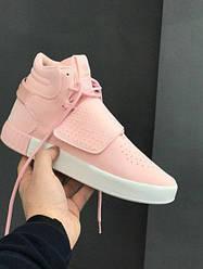 Женские кроссовки Adidas Tubular Invader Strap Pink