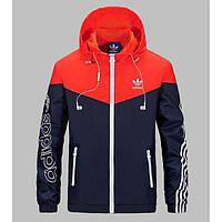 Ветровка мужская фирменная Adidas красно-синяя