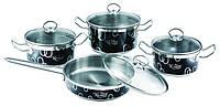 Набор посуды 8 предметов (чёрный) Krauff 26-158-001