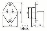 КТ834А транзистор кремниевый NPN (15А 500В) 100W (демонтаж, перепроверенные), фото 2