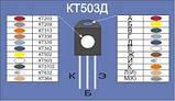 КТ503Б транзистор NPN (350мА 40В) (h21э: 80-240) 0,35W (ТО92), фото 4