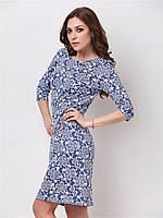 Легкое женское платье с цветочным узором 90160/1