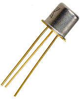 КТ117А транзистор N-база (h21э:0.5-0.7) 30В Au (ТО18)