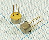 КТ505А транзистор PNP (IК. И. max=2А) (UКЭ0 max=300В) Au (ТО5), фото 2